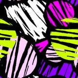 De naadloze het herhalen textielinktborstel strijkt patroon in krabbel g Stock Foto's