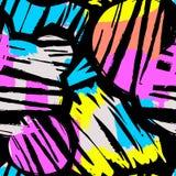 De naadloze het herhalen textielinktborstel strijkt patroon in krabbel g Royalty-vrije Stock Foto