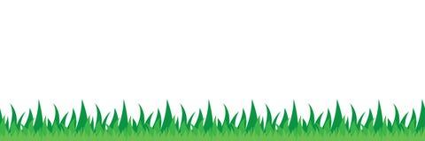 De naadloze illustratie van het grasgebied stock illustratie