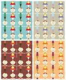 De naadloze illustratie van het kinderenpatroon. Royalty-vrije Stock Foto