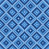 De naadloze kleine blauwe achtergrond van het diamantpatroon. Royalty-vrije Stock Fotografie