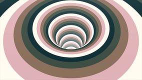 De naadloze kleurrijke abstracte weg van het animatiegat in van het achtergrond deeltjes licht element textuurpatroon Abstracte m stock footage