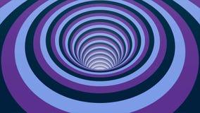 De naadloze kleurrijke abstracte weg van het animatiegat in van het achtergrond deeltjes licht element textuurpatroon Abstracte m stock videobeelden