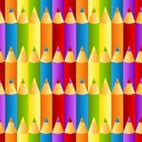 De naadloze kleurrijke achtergrond van het kleurpotlodenpatroon Stock Fotografie