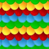 De naadloze kleurrijke achtergrond van het schalenpatroon Royalty-vrije Stock Afbeeldingen