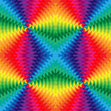 De naadloze Kleurrijke Golvende Lijnen snijden in het Centrum De Visuele Illusie van Beweging stock illustratie