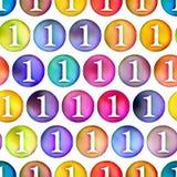 De naadloze kleurrijke medaille van de textuur eerste plaats Stock Foto's