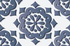 De naadloze kromme van het de decoratie retro patroon van het hulpbeeldhouwwerk om B vector illustratie