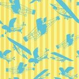 De naadloze lay-out van patroonvliegtuigen Stock Afbeeldingen