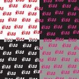 De naadloze liefde en de harten van patroonwoorden vector illustratie