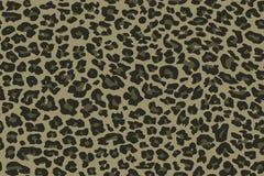 De naadloze luipaard van het camouflagepatroon Kaki groene textuur, vectorillustratie royalty-vrije illustratie