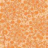 De naadloze met de hand gemaakte, natuurlijke stemming van patroontracery Royalty-vrije Stock Afbeeldingen