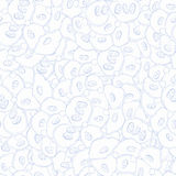De naadloze met de hand gemaakte, natuurlijke stemming van patroontracery Stock Afbeelding