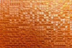 De naadloze oranje achtergrond van de muurkeramische tegel Stock Afbeelding