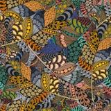 De naadloze ornamenten van de patroon abstracte golf Royalty-vrije Stock Afbeeldingen
