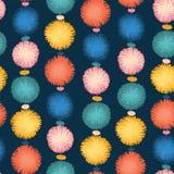 De naadloze partij pom poms herhaalt vectorpatroon stock illustratie