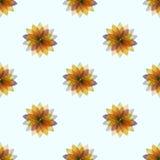 De naadloze patronen van bloemen Stock Afbeeldingen