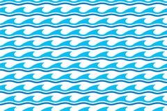 De naadloze patronen van de watergolf stock illustratie