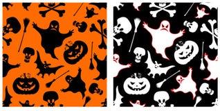 De naadloze patronen van Halloween. Royalty-vrije Stock Foto