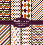 De naadloze patronen van Halloween Beeldverhaal polair met harten Royalty-vrije Stock Afbeelding