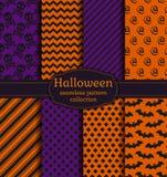 De naadloze patronen van Halloween Beeldverhaal polair met harten Royalty-vrije Stock Fotografie
