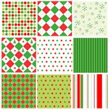 De naadloze patronen van Kerstmis Stock Afbeeldingen
