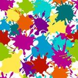 De naadloze plonsen van de patroonverf, de vectorachtergrond van kleurenvlekken vector illustratie