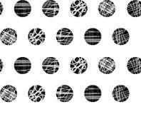 De naadloze punt herhaalt patroon met texturen royalty-vrije illustratie