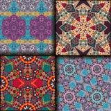 De naadloze reeks van de patroon etnische stijl stock afbeelding