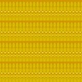 De naadloze regelmatige gele bruine oker van het ellipsenpatroon Royalty-vrije Stock Foto