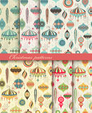 De naadloze retro patronen van Kerstmis Royalty-vrije Stock Foto
