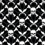 De naadloze schedels van de patroonpiraat Stock Foto's