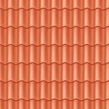 De naadloze tegel van het terracotadak. vector illustratie