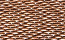 De naadloze tegel van het terracotadak stock fotografie
