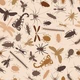 De naadloze tegel van insecten Royalty-vrije Stock Afbeelding