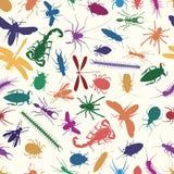 De naadloze tegel van insecten Royalty-vrije Stock Foto's