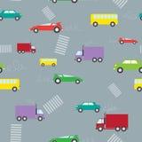 De Naadloze textuur van auto's. Stock Afbeeldingen