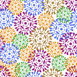 De naadloze textuur van bloemen Stock Foto