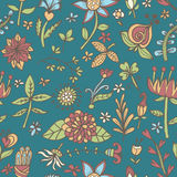 De naadloze textuur van de bloem Eindeloos bloemenpatroon Kan voor behang worden gebruikt Royalty-vrije Stock Foto