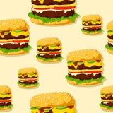 De naadloze textuur van de hamburger. Stock Afbeelding