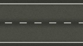 De naadloze textuur van de wegweg in motie stock videobeelden