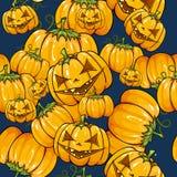 De naadloze textuur van Halloween. Stock Afbeeldingen