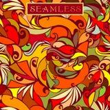 De naadloze textuur van de herfst Het naadloze patroon kan voor behang worden gebruikt, vult het patroon, Web-pagina achtergrond, royalty-vrije illustratie