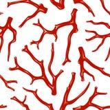 De naadloze textuur van het koraal vector illustratie