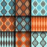 De naadloze textuur van het patronenplakboek Stock Foto's