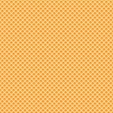 De naadloze textuur van het wafelspatroon Stock Afbeelding