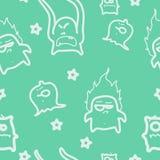 De naadloze textuur van monsters. Stock Fotografie