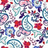 De naadloze textuur van Paisley royalty-vrije illustratie