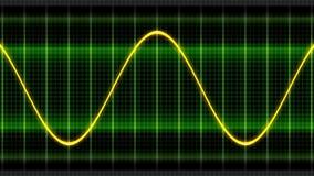 De naadloze van een lus voorziende golven van de animatie oscillogram sinus stock footage