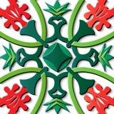 De naadloze van het de decoratie retro patroon van het hulpbeeldhouwwerk groene kromme c royalty-vrije illustratie